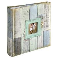 Hama Memo-Album Cottage, für 200 Fotos im Format 10x15 cm, Blau