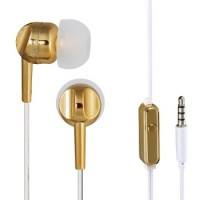 Thomson EAR3005GD Kopfhörer, In-Ear, Mikrofon, Gold