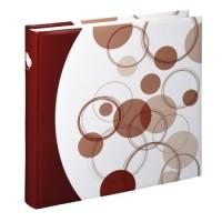 Hama Jumbo-Album Puntino, 30x30 cm, 80 weiße Seiten, Rostrot