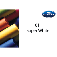 Savage Hintergrundpapier Super White 2.72x11m