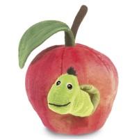 Folkmanis Handpuppe Wurm im Apfel