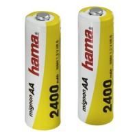 Hama NiMH-Akkus Ready4Power, 2x AA (Mignon - HR 6) 2400 mAh