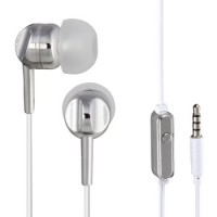 Thomson EAR3005S Kopfhörer, In-Ear, Mikrofon, Silber