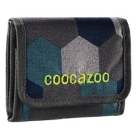 coocazoo Geldbeutel CashDash, Blue Geometric Melange