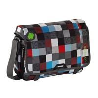 coocazoo Schultertasche HangDang, Checkmate Blue Red