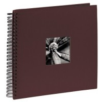 Hama Spiral-Album Fine Art, 36 x 32 cm, 50 schwarze Seiten, Bordeaux