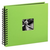 Hama Spiral-Album Fine Art, 36 x 32 cm, 50 schwarze Seiten, Kiwi
