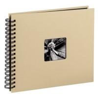 Hama Spiral-Album Fine Art, 36 x 32 cm, 50 schwarze Seiten, Taupe