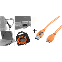 Tether Tools Starter Tethering Kit: USB3 A/MicroB Kabel 15' ORG