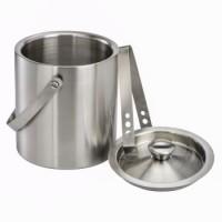 Xavax Eiswürfel-Behälter-Set mit Deckel und Zange aus Edelstahl