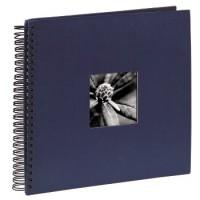 Hama Spiral-Album Fine Art, 36 x 32 cm, 50 schwarze Seiten, Blau
