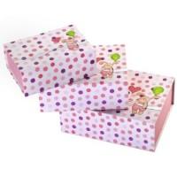 Hama Geschenkboxen-Set Kleiner Hase, 3 Stück, Pink