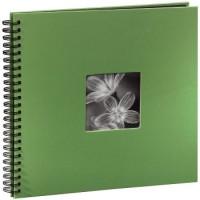 Hama Spiral-Album Fine Art, 36 x 32 cm, 50 schwarze Seiten, Apfelgrün