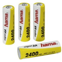 Hama NiMH-Akkus Ready4Power, 4x AA (Mignon - HR 6) 2400 mAh