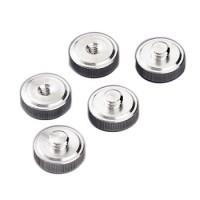 Hama Wechselteller, Gewindezapf. (A)3/8 (9,5 mm) > Gewindebohr. (B)1/4 (6,4mm)