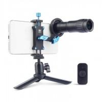 SIRUI TL-400-3 Tele-Vorsatzobjektiv 400mm mit Smartphonehalter und Stativ