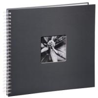 Hama Spiral-Album Fine Art, 36 x 32 cm, 50 weiße Seiten, Grau