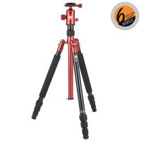 Sirui T-004X Dreibein rot Alu + Kopf C-10XS