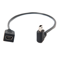 TetherPro USB 2.0 A / Mini-B Left Angle, 30cm
