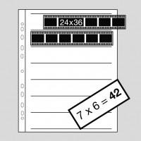 Kaiser Negativhüllen Acetat 135 (24x36mm), 100 Blatt