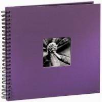 Hama Spiral-Album Fine Art, 36 x 32 cm, 50 schwarze Seiten, Lila