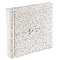 Hama Memo-Album Romance, für 200 Fotos im Format 10x15 cm, weiße Seiten