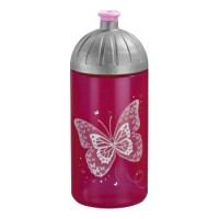 Step by Step Trinkflasche Shiny Butterfly, Pink