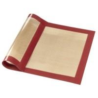 Xavax Backmatte aus Silikon, eckig, 40 x 30 cm, Rot-Braun