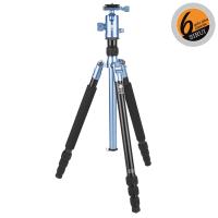 Sirui T-004X Dreibein blau Alu + Kopf C-10XS