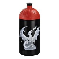 Step by Step Trinkflasche Fire Dragon, Schwarz