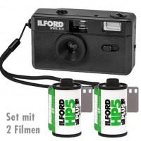 Ilford Kamera Sprite 35-II schwarz Set mit 2 Filmen