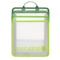 coocazoo Faltbare Heftbox CheckBag, Transparent Green