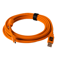 TetherPro USB 2.0 A / Mini B 5 Pin 4.6m/15' orange