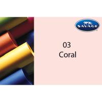 Savage Hintergrundpapier Coral 1.36x11m
